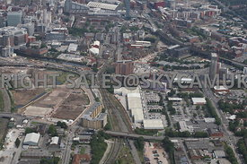 High level view looking across Oldfield Road Salford towards the Middlewood development area and Regent Trading Estate toward...