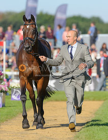 Alexander Peternell and ASIH - The final vets inspection (trot up),  Land Rover Burghley Horse Trials, 8th September 2013.