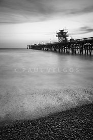 California San Clemente Pier Black and White Picture