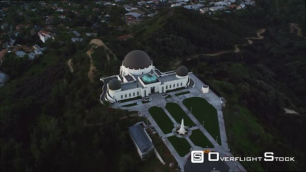 Orbiting the Griffith Observatory in Los Angeles.