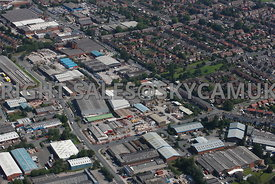 Stockport aerial photograph of Haigh Park industrial Estate