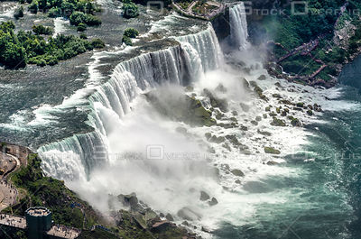 The American Falls of Niagara Falls New York