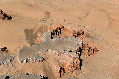 Erosional landscape at Ward Terrace, on the edge of the Moenkopi Plateau 30km east of Gray Mountain,  Painted Desert, Navajo ...