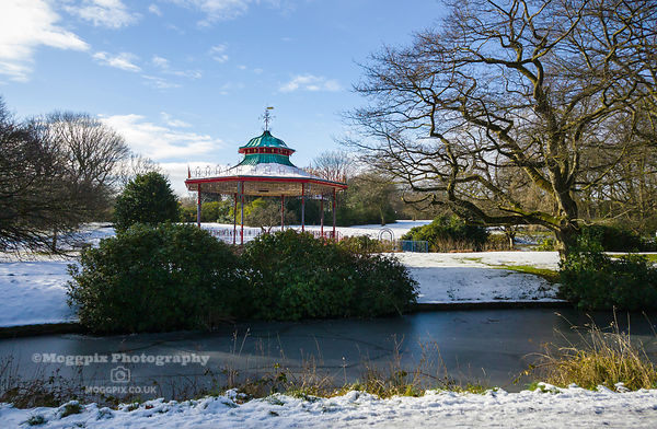 A Snow-Covered Bandstand