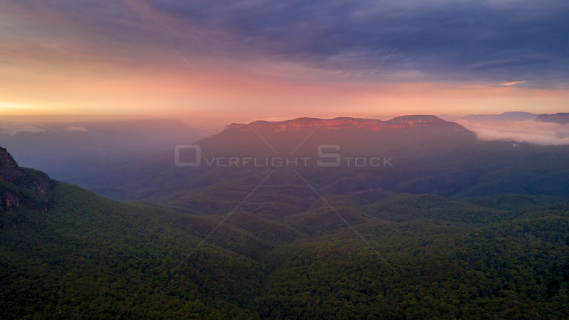 Scenic landscape of the Blue Mountains National Park NSW Australia