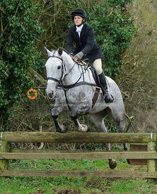 Zara Wise jumping a hunt jump near Knossington Spinney