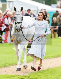 Kirsty Short and COSSAN LAD at the trot up, Land Rover Burghley Horse Trials 2018