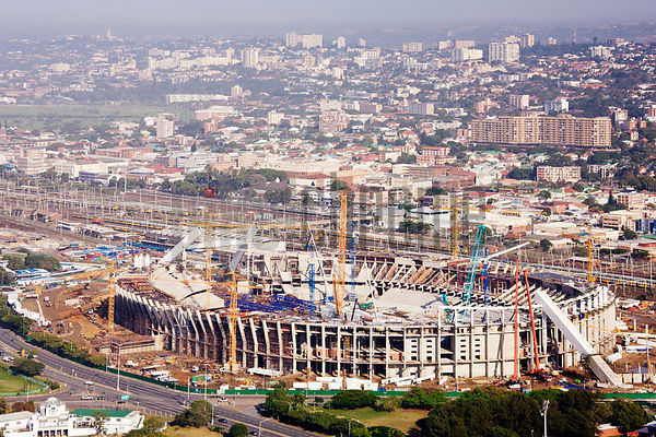 2010 World Cup Stadium Under Construction