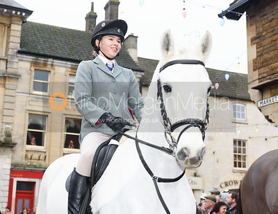 Scarlett Ball at the meet. The Cottesmore Hunt Boxing Day Meet in Oakham 26/12