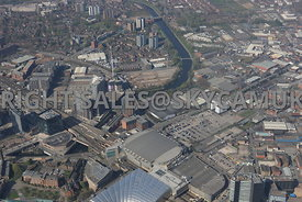 Manchester Arena and the Greengate development area of north Manchester