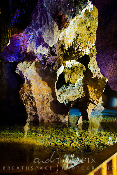 Sterkfontein Caves: erroded rocks and a clear subterranean pool