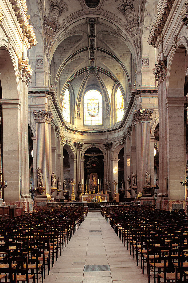Nave of Saint Sulpice church, Paris