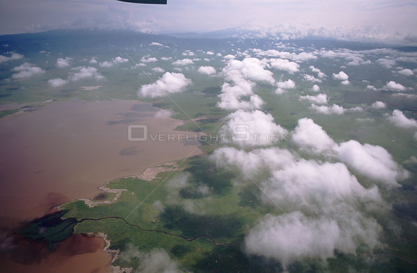 Ngorongoro crater from the air, Tanzania