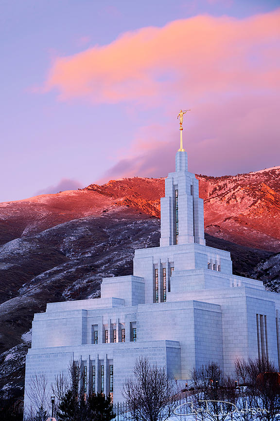Last Light at Draper Temple