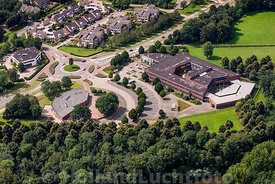 Grave - Luchtfoto Merlet College