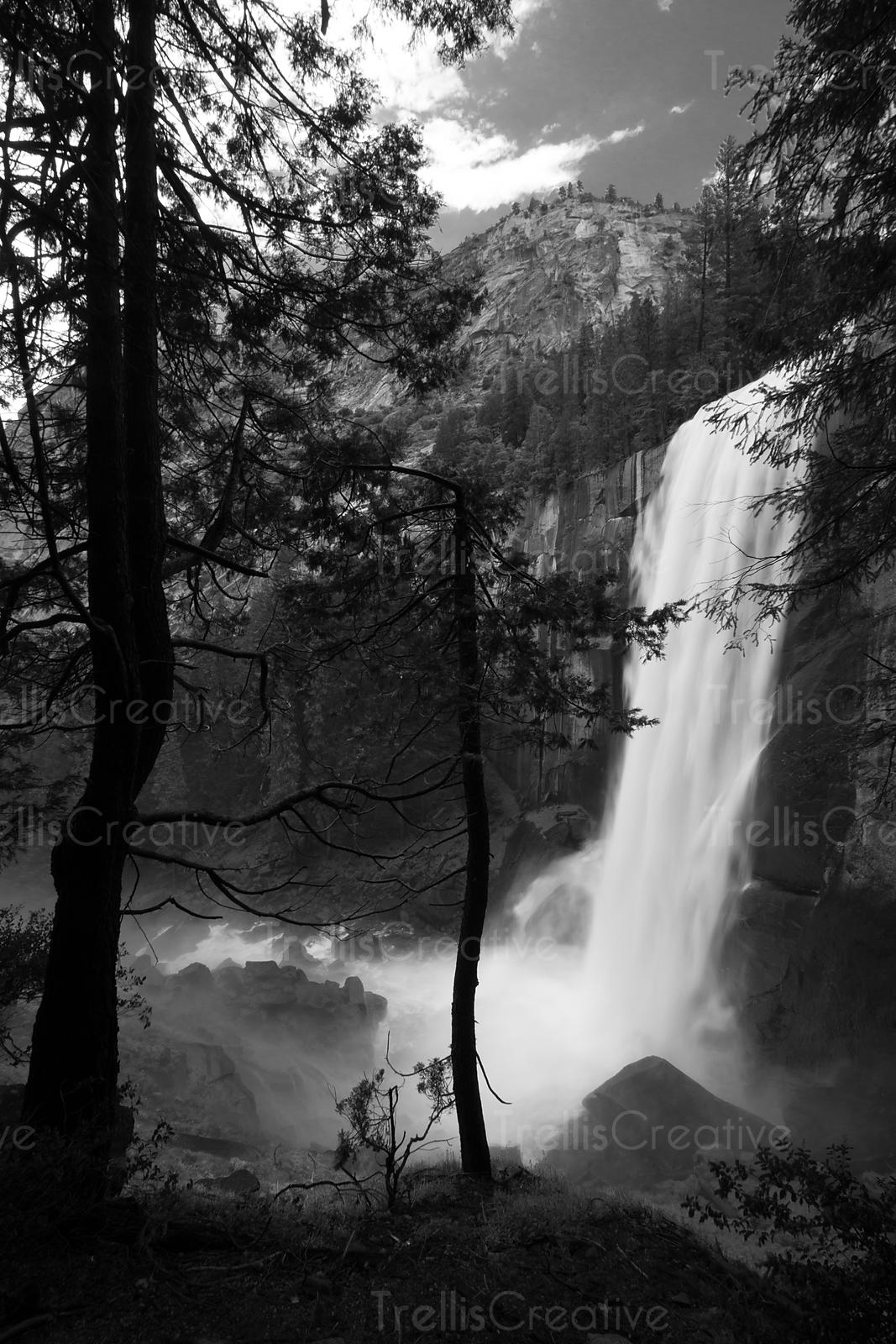Vernal Falls along Half Dome Hike, Yosemite National Park, California