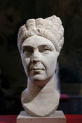 "Marble portrait of Marciana, sister of Emperor Trajan. ""Portraits. The Many Faces of Power"" Exhibition"