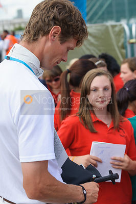 William Fox-Pitt signing autographs - LOCOG Greenwich Park Invitational Olympic Test Event, London, July 2011