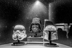 Star Wars characters in Swarovski crystal