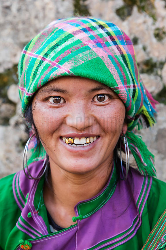 Portrait of a Woman from the Dai Tribe