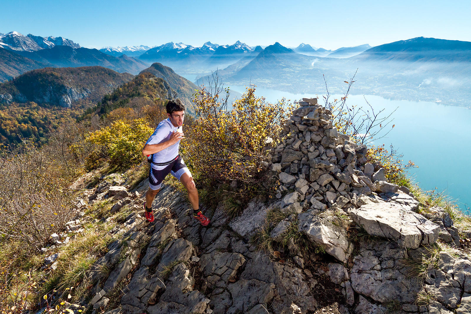 Autumn trail running with Kilian Jornet