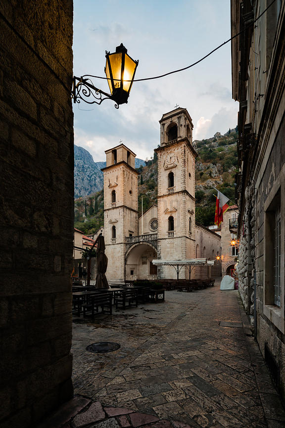 Kotor Cathedral at Dawn