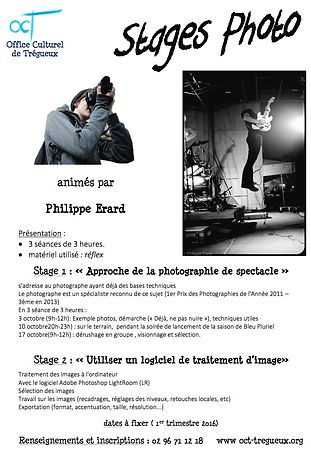 "Stage ""Photographies de spectacle"""