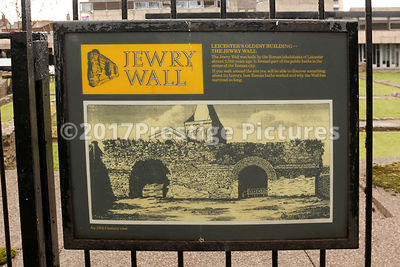 SIgn showing information about The Jewry Wall in Leicester