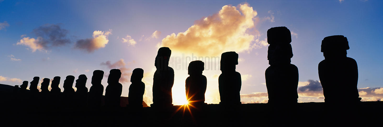 Moai at Ahu Tongariki, Easter Island (Rapa Nui), Chile