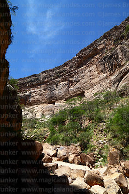 View looking up from bottom of Torotoro Canyon, Torotoro National Park, Bolivia