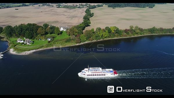 Steamer on the shores of Lake Schlei in Ellenberg in the state of Schleswig-Holstein, Germany
