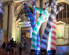 event photography (art) from Art All Night (Nuit Blanche) DC 2014 (artist: Sunman Sorg, Carnegie Library, https://www.faceboo...