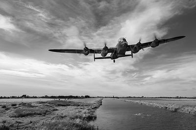 617 Squadron Lancaster training sortie B&W version