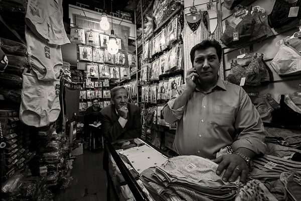 Family of Shopkeepers in Great Bazaar