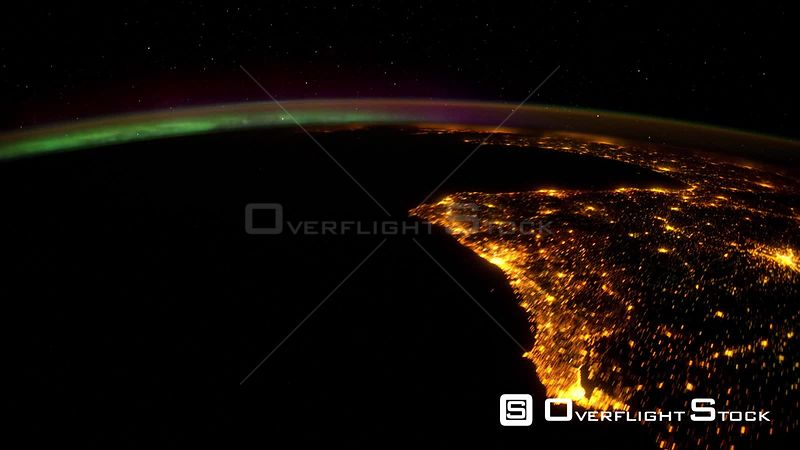 TimeLapse from  ISS Europe Aurora Borealis 8_Mar_2012