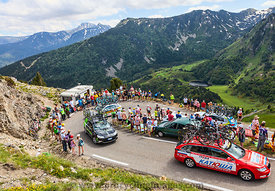 Technical car in Pyrenees Mountains - Tour de France 2013