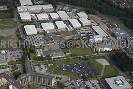 Warrington aerial photograph of Birchwood Park