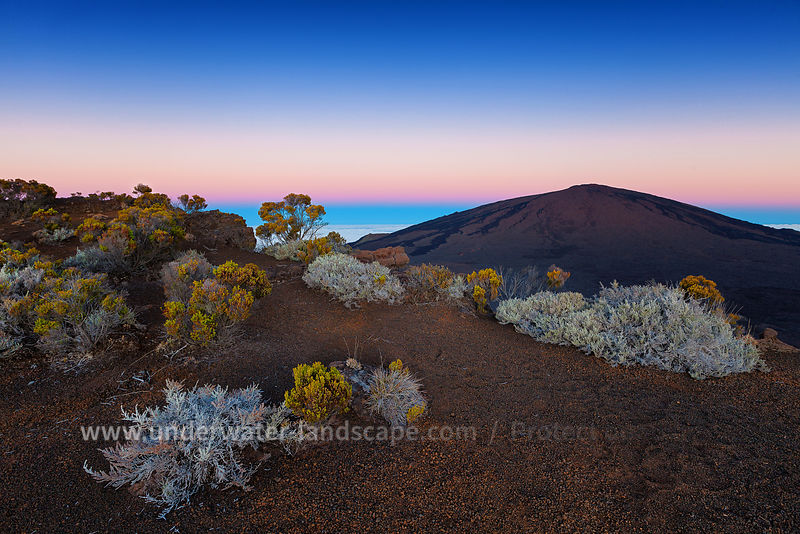 Blue hour at the volcano