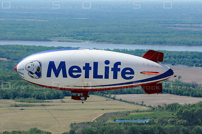 Snoopy Met Life Blimp Air to Air Photo