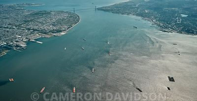 Aerial photograph of New York Harbor