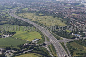 M60 motorway Junction 7 on the Outer Manchester Ring road Stretford Meadows Chester road Stretford