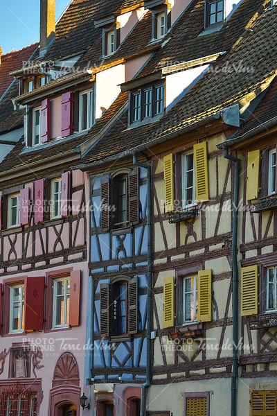 Colorful traditional french houses in Petite Venise, Colmar