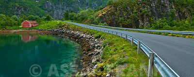 Countryside road in Lofoten, Norway
