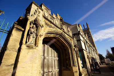 The Old Gates of Magdalen College in Oxford