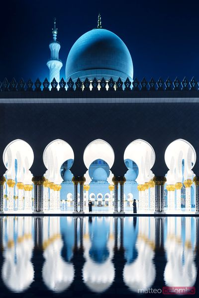 Abu Dhabi. Sheikh Zayed Grand Mosque at night