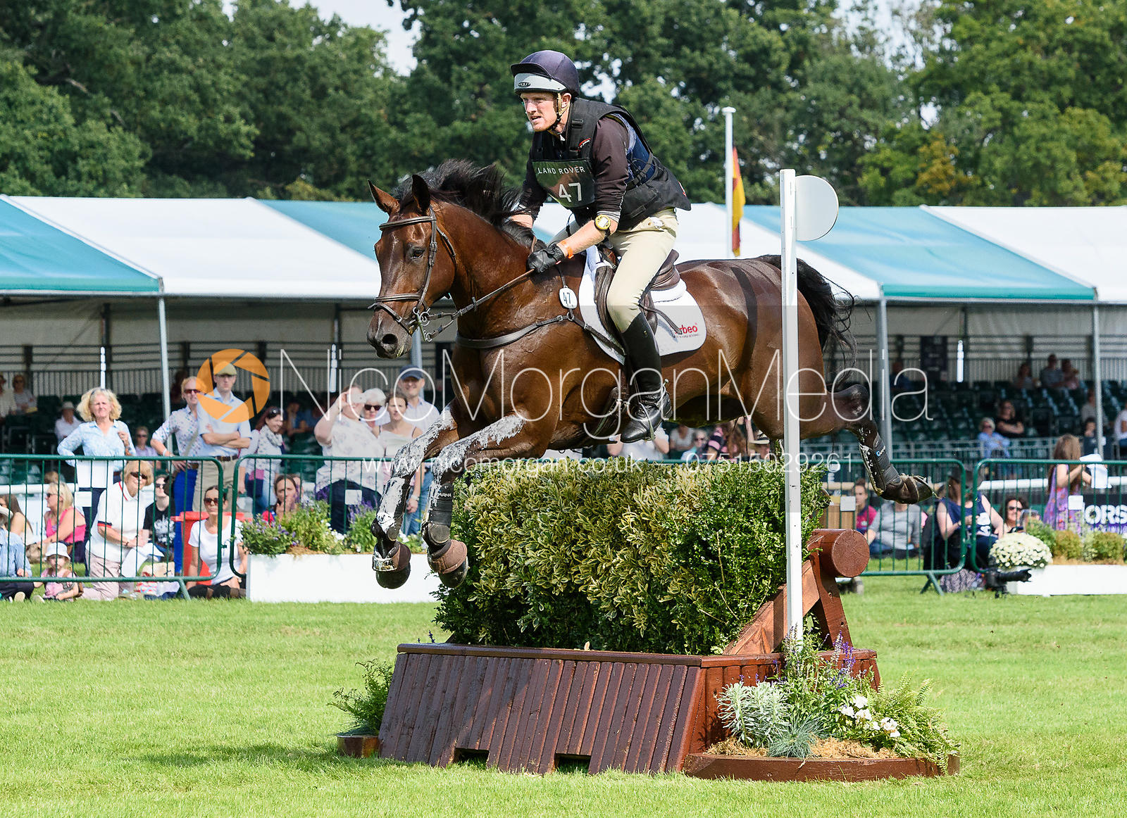 Nicholas Lucey and PROUD COURAGE, cross country phase, Land Rover Burghley Horse Trials 2018