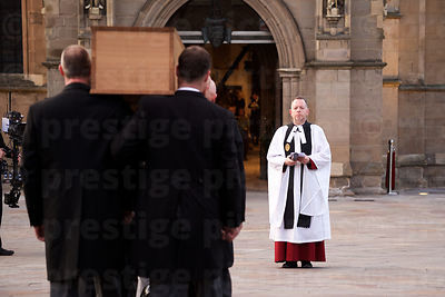 Richard III's Coffin is Carried towards the Waiting Dean of Leicester Cathedral