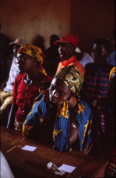 Rwanda - Kibileze - A group of people wait for their HIV/AIDS tests