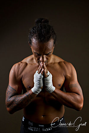Sports Portrait of Marco Apele, triple kickboxing world champion