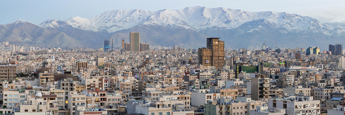 Elevated View of the Skyline of Tehran